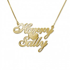 18ct Gold-Plated Silver Two Name Love Necklace