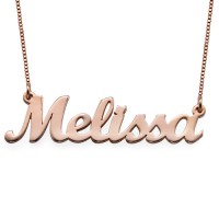 18ct Rose Gold Plated Script Name Necklace