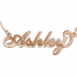 18ct Rose Gold Plated Silver Name Necklace