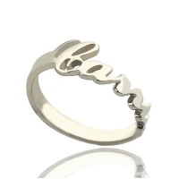 Personalised Carrie Name Rings Gift Sterling Silver