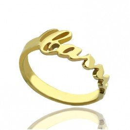 Custom Carrie Name Rings 18ct Gold Plated