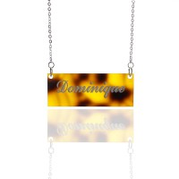 Personalised Acrylic Bar Carrie Name Necklace