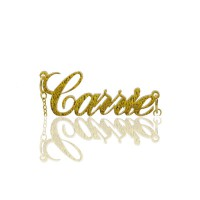 Custom Carrie Glitter Acrylic Name Necklace