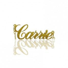 Custom Carrie Glitter Acrylic Name Necklace