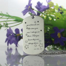 Best Friends Gift Dog Tag Name Necklace