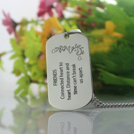 Best Friends Dog Tag Name Necklace