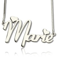 Personalised Cute Name Necklace Sterling Silver