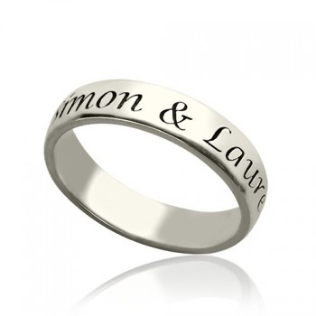 Personalised Promise Name Ring Sterling Silver
