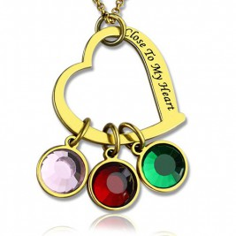 Personalised Close to My Heart Necklace 18ct Gold Plated