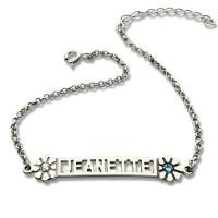 Personalised ID Birthstone Name Bracelet For Teens