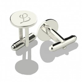 Cool Initial Cuff links Sterling Silver