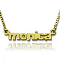 Personalised Small Lowercase Name Necklace in 18ct Gold Plated