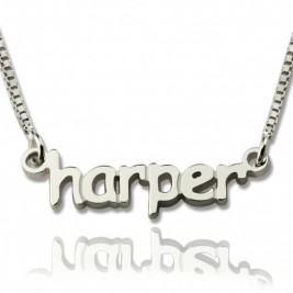 Personalised Mini Name Letter Necklace Sterling Silver