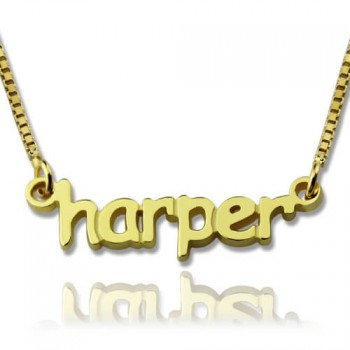 Personalised Mini Name Necklace 18ct Gold Plated