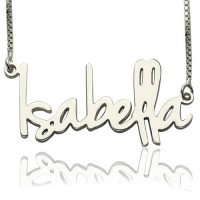 Small Name Necklace For Her Sterling Silver