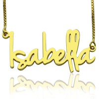 Small Name Necklace For Women in 18ct Gold Plated
