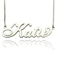 Personalised Nameplate Necklace Carrie Stering Silver