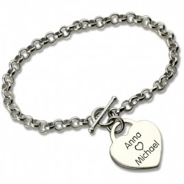 Classic Padlock Heart Toggle Bracelet with Free Filigree Keepsake Box