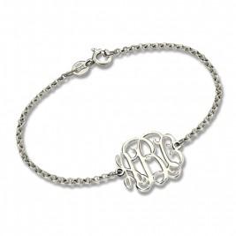 Sterling Silver Monogram Bracelet