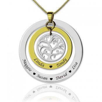 Grandma Family Tree Names Necklace
