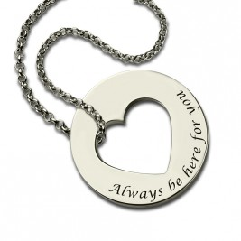 Personalised Promise Necklace For Her Sterling Silver