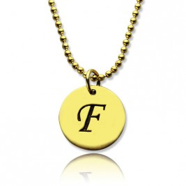Personalised Initial Charm Discs Necklace 18ct Gold Plated