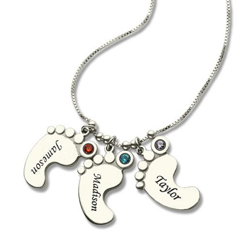 personalised necklaces baby charm necklace for