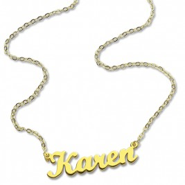 18ct Gold Plated Karen Style Name Necklace