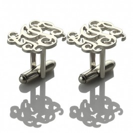 Personalised Cufflinks with Monogram Sterling Silver