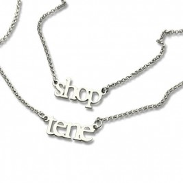 Sterling Silver Double Layer Mini Name Necklace