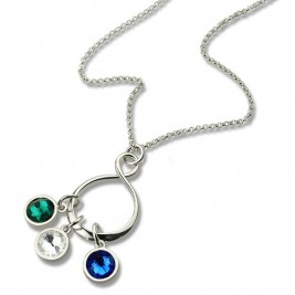 Personalised Birthstone Infinity Charm Necklace