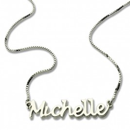 Handwriting Name Necklace Sterling Silver