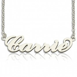 Personalised Carrie Name Necklace Sterling Silver