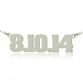 Sterling Silver Number Name Necklace Unique Men Jewellery