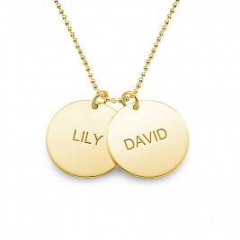 18ct Gold Plated Silver Disc Pendant Necklace