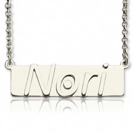 Personalised Nameplate Bar Necklace Sterling Silver