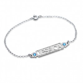 Birthstone Name Bracelet/Anklet