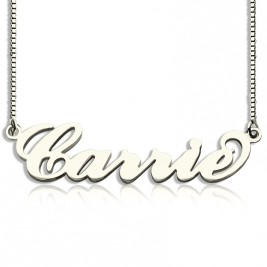 Personalised Carrie Name Necklace Silver - Box Chain