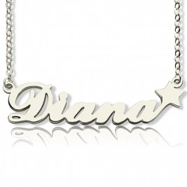 Personalised Letter Necklace Name Necklace Sterling Silver