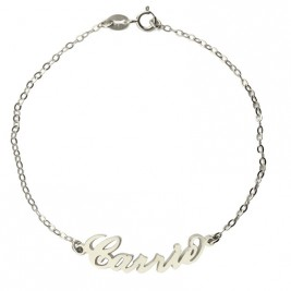 Personalised Sterling Silver Carrie Name Bracelet