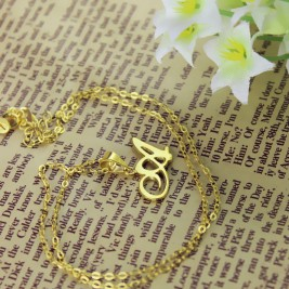 Personalised Letter Necklace 18ct Gold Plated