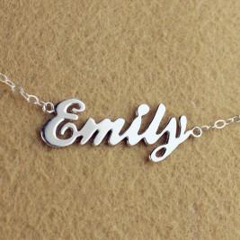 Custom Cursive Name Necklace Sterling Silver