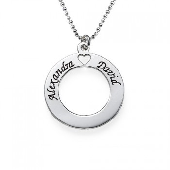 Sterling Silver Couples Love Necklace