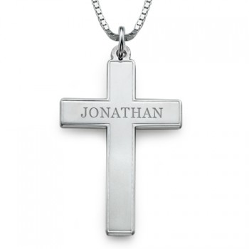 Large Men's Personalised Cross Necklace