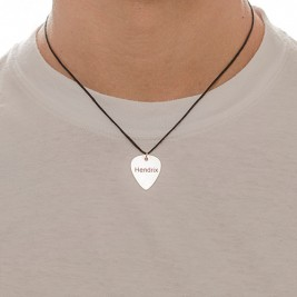Engraved Guitar Pick Necklace