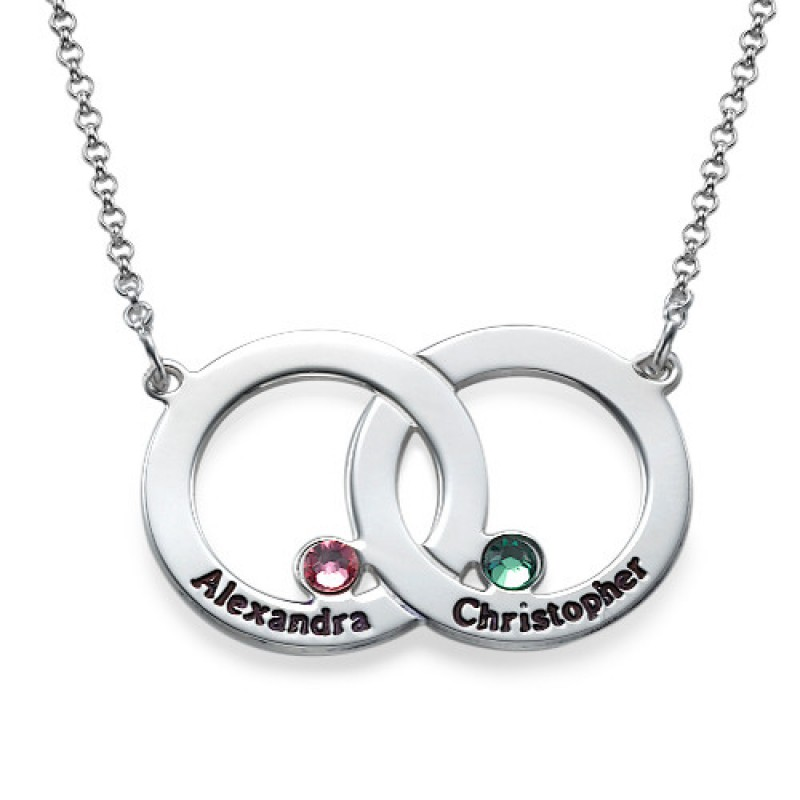 Interlocking circle necklace engraved interlocking circle necklace aloadofball Gallery