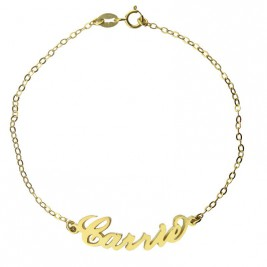 Personalised 18ct Gold Plated Carrie Name Bracelet