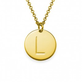 18k Gold Plated Initial Charm Necklace