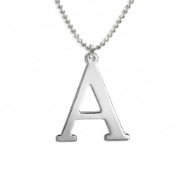 Initials Necklace in Silver