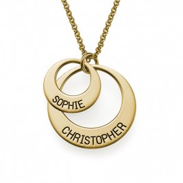 Jewellery for Mums - Disc Necklace in Gold Plating